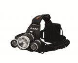 Solight WH23 LED čelová svítilna SUPER POWER, 900lm, 3x Cree LED, 4x AA