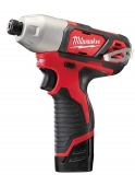 "Milwaukee M12 BID-202C 1/4"" Aku utahovák Li-on 2,0Ah"