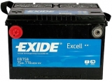 EXIDE Excell 12V 75Ah 770A, EB758 autobaterie