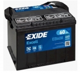 EXIDE Excell 12V 60Ah 640A, EB608 autobaterie