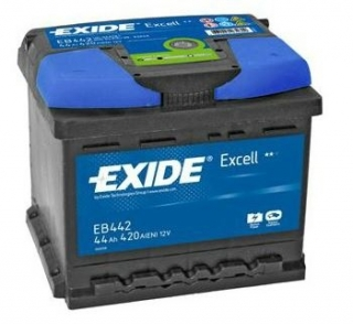 EXIDE Excell 12V 44Ah 420A, EB442 autobaterie