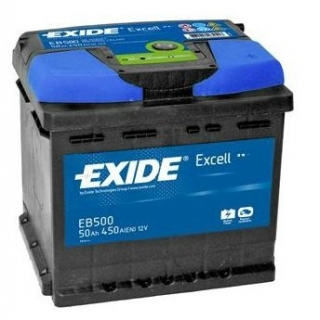EXIDE Excell 12V 50Ah 450A, EB500 autobaterie