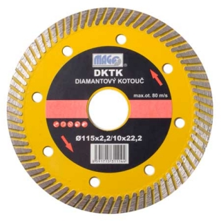Magg DKTK115 Diamantový kotouč TURBO SPEED 115x22,2mm
