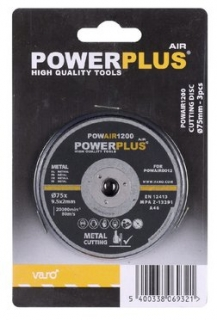 PowerPlus POWAIR1200 Řezací kotouč 75mm (3ks)